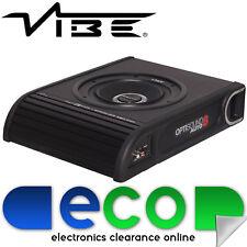 "Vibe Optisound 8"" Inch 900 Watts Slim UnderSeat Car Sub Subwoofer Bass Enclosure"