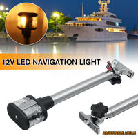 Fold Down Marine Boat Yacht 360° Navigation Light Stern Anchor Pole Lamp US .&