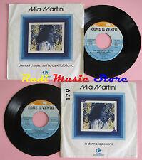 LP 45 7''MIA MARTINI Che vuoi che sia se t'ho aspettato tanto Io donna cd mc*dvd