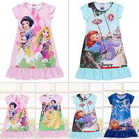 New Kid Girl Princess Nighty Pajamas Dress Nightwear Party Cartoon Clothes 3-10Y