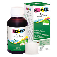 PEDIAKID DRY & CHESTY COUGH SYRUP 125ml Soothes irritated throats Plant extracts