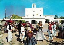 """Postal (Ibiza, Baleares """"Baile típico en San José. Exhibiciones semanales"""")"""