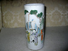 19TH CENTURY ANTIQUE CHINESE FAMILLE ROSE HAT STAND VASE REPUBLIC PERIOD