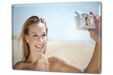 Ihr Foto Bild auf einem Blechschild XXL 30x40 cm