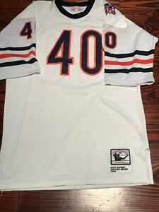 Vtg Mitchell & Ness Gale Sayers Chicago Bears Football Jersey used sewn sz 52