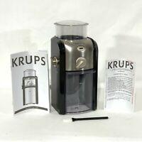 KRUPS GVX 2 Removable Burr Coffee Grinder 17 Grind Settings 2-12 Cups GVX212 EXL