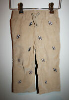 NEW Boys GYMBOREE Football Embroidered Corduroy Pants  18-24 Months NWT