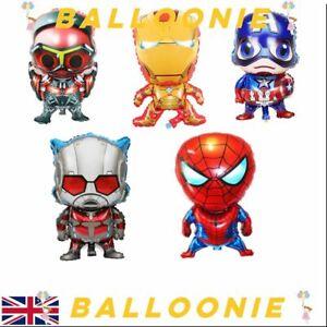 3D Large Marvel Avengers Balloons Spiderman Batman Iron Man Party Superhero Hero
