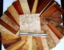 Vero legno impiallacciato NUOVA SELEZIONE esotici per Scatola INTARSI, rendendo, penne, restauro