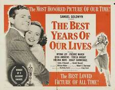 The Best Years Of Our Lives Movie Poster 20x40 Fredric March Myrna Loy Teresa