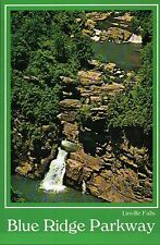 Linville Falls, Blue Ridge Parkway, North Carolina NC, Waterfall --- Postcard