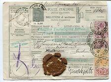 Perfin - Bollettino di spedizione pacchi diretto in Australia