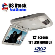 12 Inch Flip Down Tft Lcd Monitor With Dvd Player Car Roof Mount Monitor Gray Us