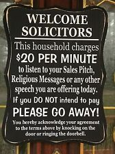 #11 No Soliciting Sign, Front Door, Fence, Home privacy Wood Black & White Gift