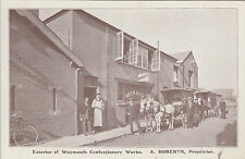 1913 used postcard ~ Exterior of Weymouth Confectionery Works - signed Roberts