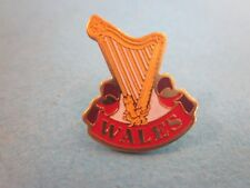 Metal & Enamel Pin Badge. Wales, with Harp. Good Condition