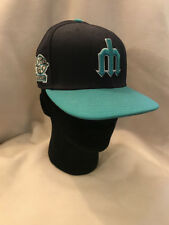 Seattle Mariners New Era 59Fifty Fitted Hat Cap w/ 20th Anniversary Patch size 7