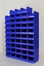 48 Sichtlagerboxen Größe 2 blau Stapelboxen Lagerboxen 1a-Qualität 167x105x82 mm