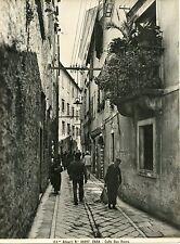 ZARA DALMAZIA ITALIANA FOTOGRAFIA VINTAGE SALI D'ARGENTO ANIMATA 20 X 25 1930 CA