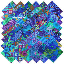 "SQ116 Kaffe Fassett Collective PLUM BLUE BEAUTIES Precut 5"" Fabric Quilt Squares"