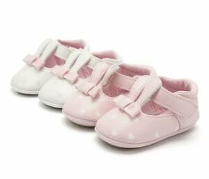 Infant Baby Girls Crib Shoes Animal Rabbit Rubber Soles Trainers Newborn to 18 M