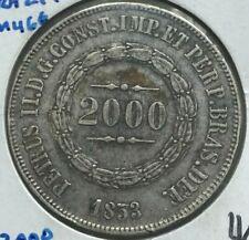 1853 Brazil 2000 Reis - Big Silver