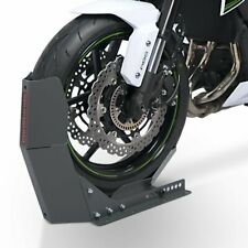 Motorrad Transportständer Frontwippe Radklemme ConStands Easy Plus grau matt