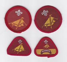 1980-2000's BRITISH / UK SCOUTS - CUB SCOUT CAMPER PROFICIENCY BADGE (4 VAR)
