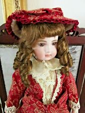 """Olga"", Bisque/Cloth Doll, 18"" , # 95/2000 Pcs, Coa Included"