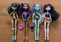 Monster High Gloom Beach 4 Pack Cleo Draculaura Clawdeen Frankie Doll Lot