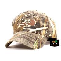 CUT'EM DOWN WATERFOWL DUCK SKULL LOGO COTTON CAMO HUNTING CAP HAT MAX-5