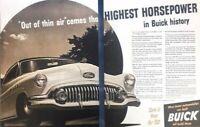 1952 Buick Automobile Vintage Advertisement Print Art Car Ad Poster LG77