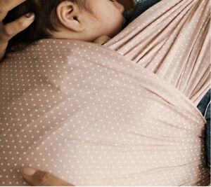New Solly Baby Wrap  - Blush Swiss Dot