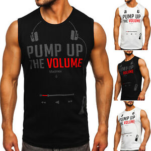 Tank Top T-Shirt Tanktop Tee Achselshirt Print Muskelshirt Herren BOLF Aufdruck