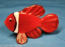 "Fish ~ Glass Nautical Shelf decor ~ 2.5"" tall"