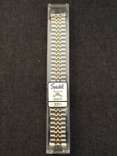 Brand New Speidel 20mm Silver And Yellow Expansion Band With Curved End