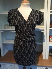 Warehouse Stretch Jersey Faux Wrap Dress Summer Size 10 Ref 316