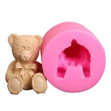 DIY 3D Teddy Bear Fondant Silicone Mold Sugar Craft Tools Baking Random Color