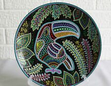 Ceramic decorative plate handmade painting on the plate glass pano gift interior