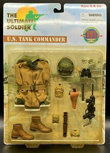 "1:6 Ultimate Soldier WWII U.S. Tank Commander Uniform Set 12"" GI Joe BBI Dragon"
