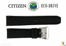 Citizen Eco-Drive CC9030-00E 22mm Black Leather Watch Band Strap S104998