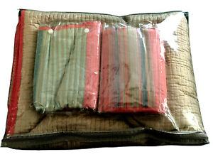 Martha Stewart Southwestern Colors Reversible FULL / QUEEN Quilt & Shams NEW