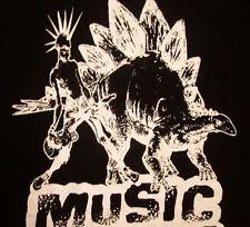 REAL PUNK RADIO online T shirt med Stegosaurus tee dinosaur rock Farside NYC