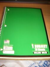 1- SUBJECT COLLEGE RULE NORCOM NOTEBOOKS - 70 SHEETS EACH= (2 NOTEBOOKS)
