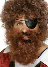 Brown Bushy Fancy Dress Fake Pirate Beard