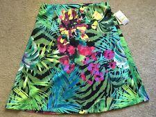 New Women's M Medium ECI New York Stretch Floral Print A-Line Skirt
