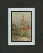 K Savage - Mid 20th Century Watercolour, Going To Church After The Rain