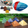 Pyramid Crystal Agate Polished Stone Specimen Healing Rock Collectibles Decor