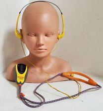 Sony Sports FM/AM Walkman SRF-87 Necklace Style Pendant & MDR-W14 Headphones