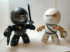 HASBRO MIGHTY MUGGS GI JOE SNAKE EYES & STORM SHADOW LOOSE W/ Weapons